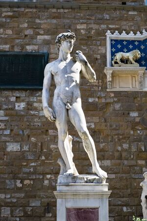 Statue of David in Florence, Italy photo