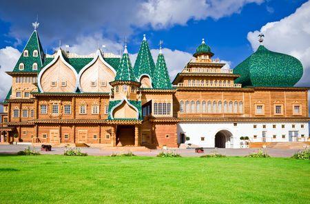 Houten paleis in Kolomenskoe, Moskou, Rusland
