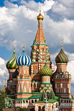 St. Basil Cathedral and Pozharsky And Minin Monument, Moscow, Red Square