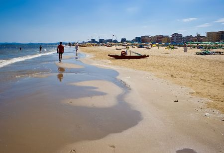 rimini: A beach in Adriatic sea, Rimini, Italy
