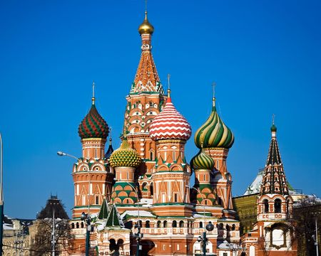 minin: St. Basil Cathedral, Moscow, Red Square Stock Photo