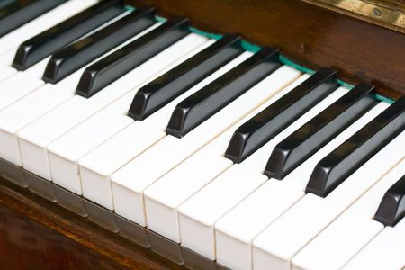 Perspective view of a piano keyboard Stock Photo - 6225779