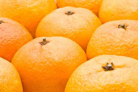 Fresh and juicy orange mandarines background Stock Photo - 6225687