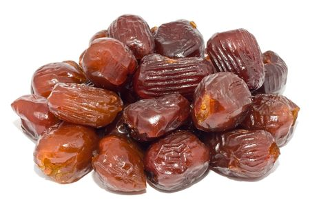 Dried date fruits isolated on white background