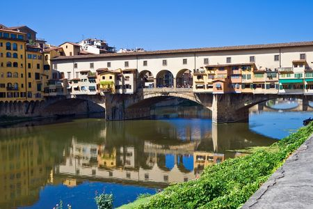 Anciant bridge Ponte Vecchio in Florence. Italy. photo