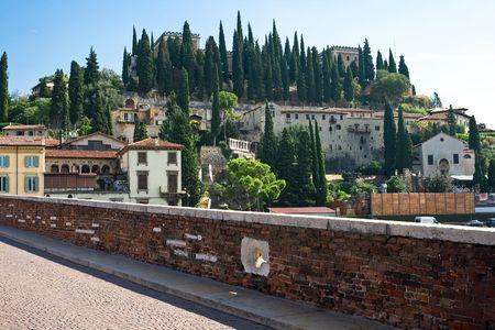 verona: Verona landscape and Adige river, Italy Stock Photo
