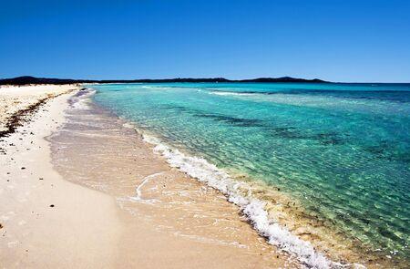 cinta: Sandy beach Cinta near San-Teodoro, Sardinia, Italy Stock Photo