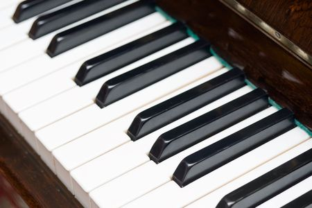 Closeup view of a piano keyboard Stock Photo - 6266994