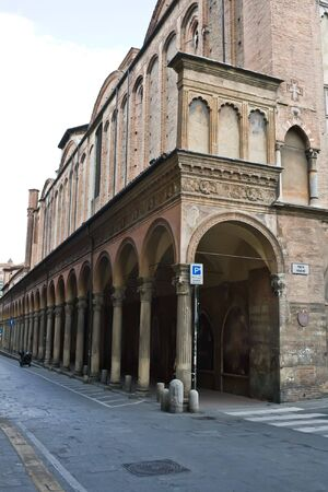 archways: A typical archways in Bologna, Italy