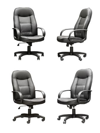 congressman: Set of leather armchairs on the isolated background Stock Photo