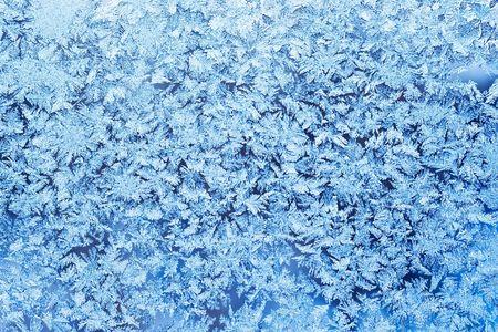 Frost pattern on a winter window