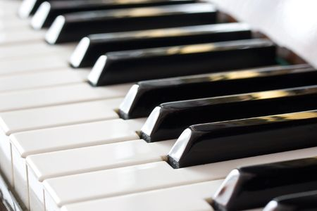 Perspective view of a piano keyboard Stock Photo - 6367819