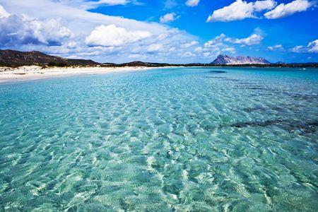 Strand in Sardinië, Italië