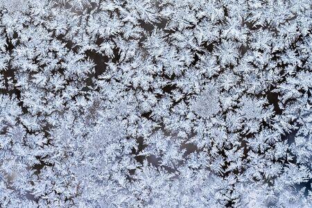 Frost pattern on a winter window Stock Photo - 6367610
