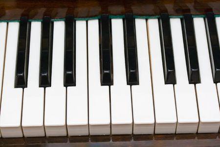 Closeup view of a piano keyboard Stock Photo - 6367590