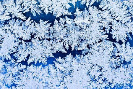 Frost pattern on a winter window Stock Photo - 6514593