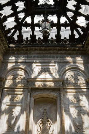 Celling of turkish bath (hammam) in Dolmabahce palace, Istanbul photo