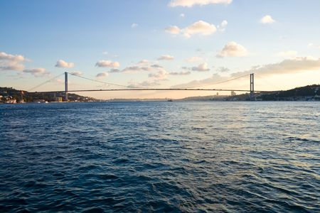 The Bosphorus Bridge connecting Europe and Asia
