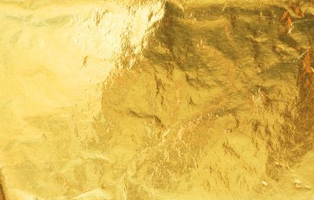 foil: Golden foil abstract texture background Stock Photo