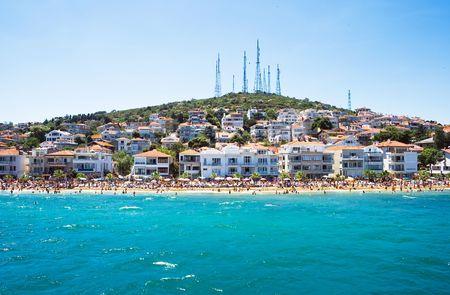 istanbul beach: Beach on Kinali island near Istanbul, Turkey Stock Photo