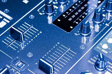 Electronic DJ Mixer close up Stock Photo - 6616446