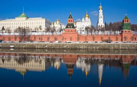 Famous Moscow Kremlin in winter, Russia photo