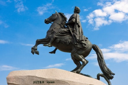 Monument of Peter the First, Saint Petersburg , Russia photo