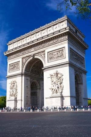winning location: Famous Arc de Triomphe in Paris, France