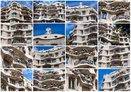 Famous Gaudi's masterpiece - Casa Mila or La Pedrera, Barcelona, Spain
