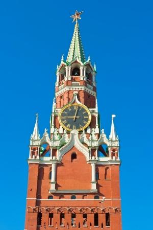 spasskaya: Beautiful view of  Spasskaya Tower in Moscow Kremlin, Russia