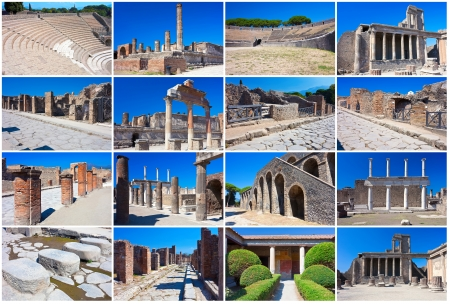 Collection of beautiful photos in Pompeii, Italy photo
