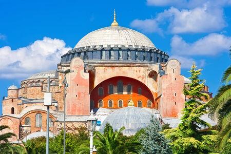 aya: Beautiful view of Hagia Sophia in Istanbul, Turkey