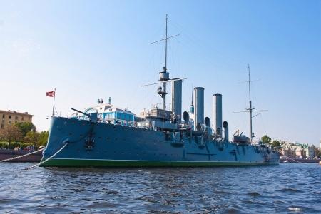 Famous cruiser Aurora in Saint Petersburg, Russia photo