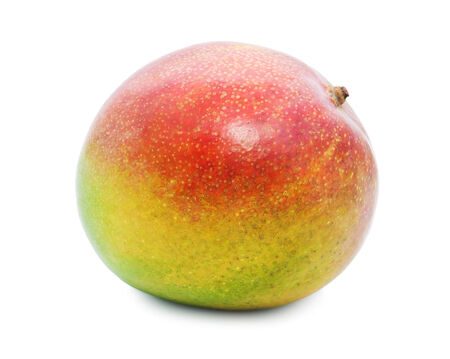 Fresh juicy Mango fruit isolated on white background Stock Photo