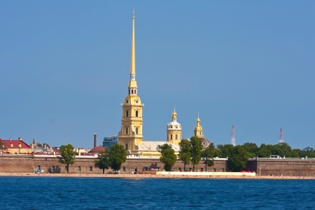 basilica of saint peter: Peter and Paul fortress in Saint Petersburg, Russia Stock Photo