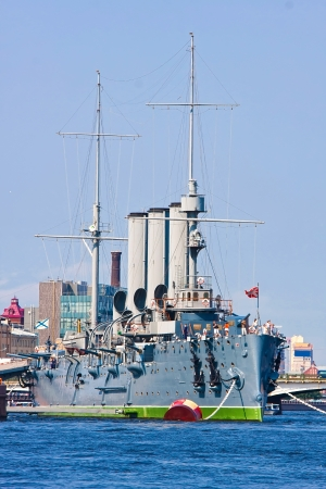 Famous cruiser Aurora in Saint Petersburg, Russia photo