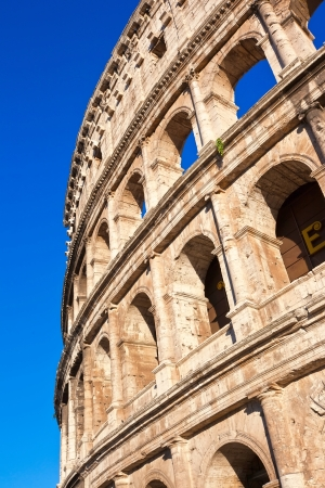 Beautiful view of famous ancient Colosseum in Rome, Italy Banque d'images