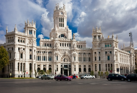 palacio de comunicaciones: Central Post Office - Palacio de Comunicaciones at Cybeles Square, Madrid, Spain. Editorial