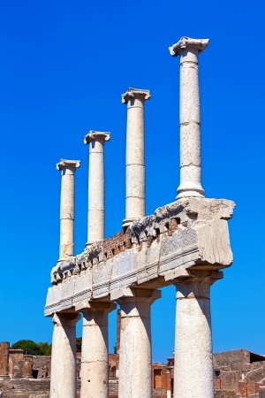 Famous ruins of ancient town Pompeii in Italy photo
