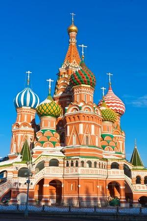 붉은 광장, 모스크바 크렘린, 러시아에서 세인트 바 실 성당.