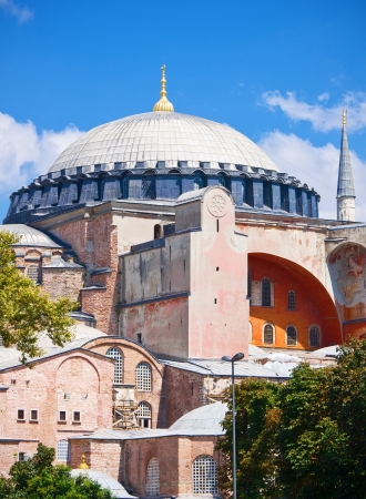 Beautiful view of Hagia Sophia in Istanbul, Turkey photo