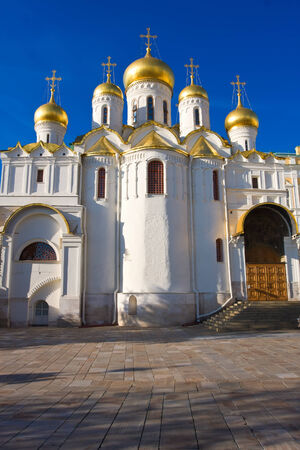 annunciation: Beautiful Annunciation Cathedral in Moscow Kremlin, Russia