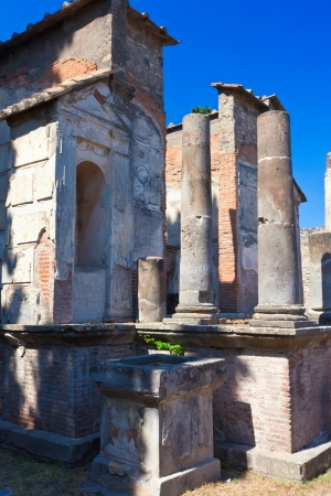 Famous ruins of ancient town in Pompeii, Italy photo