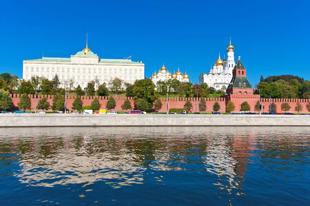 moskva river: Beautiful view of  Moscow Kremlin and Moskva river, Russia