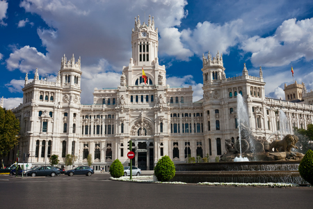 Central Post Office - Palacio de Comunicaciones at Cybele's Square, Madrid, Spain. photo