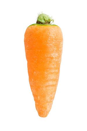 Fresh orange carrot isolated on white background