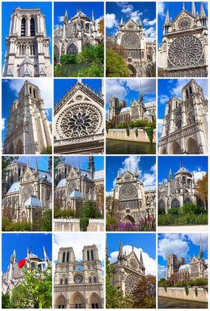 Notre Dame de Paris, famous cathedral in France Stock fotó
