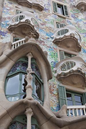 Facade of famous house Casa Batllo  by Antoni Gaudi, Barcelona, Spain Stock fotó