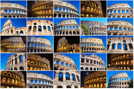 Beautiful view of famous ancient Colosseum in Rome, Italy Stock fotó