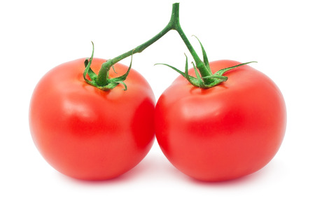 Red tasty tomatoes isolated on white background Stock fotó